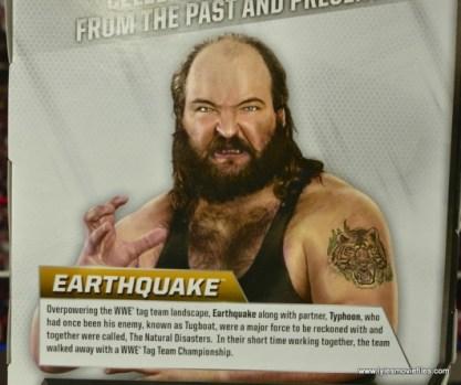 WWE Elite Natural Disasters figure reviews -Earthquake bio