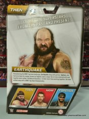 WWE Elite Natural Disasters figure reviews -Earthquake package back