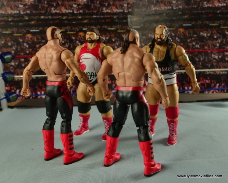 WWE Elite Natural Disasters figure reviews -face off with the Legion of the Doom