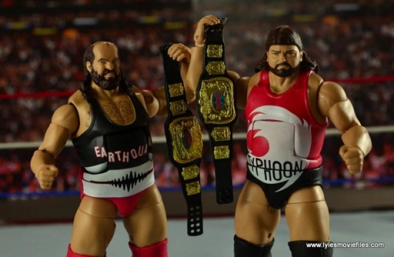 WWE Elite Natural Disasters figure reviews -raising tag belts