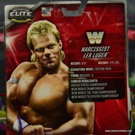 WWE Narcissist Lex Luger figure review - bio
