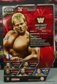 WWE Narcissist Lex Luger figure review - package rear