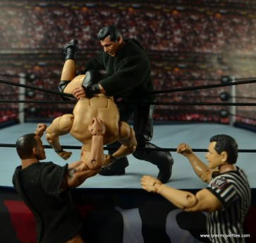 WWE Network Spotlight Vince McMahon figure review -Royal Rumble 99 tossing Austin over the top