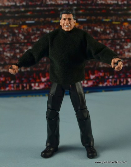 WWE Network Spotlight Vince McMahon figure review - with sweatshirt on