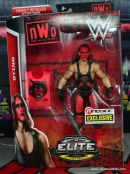 WWE Wolfpac Sting figure review - package front