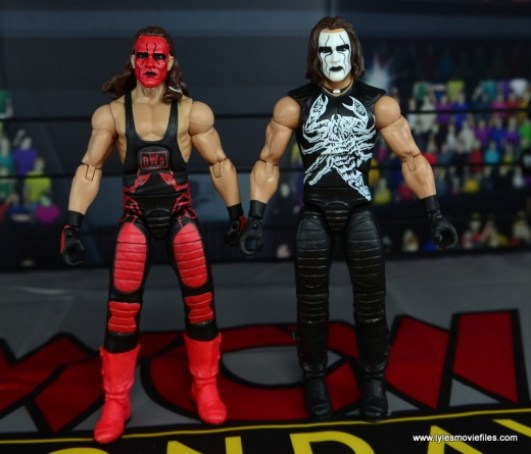 WWE Wolfpac Sting figure review -with Crow Sting