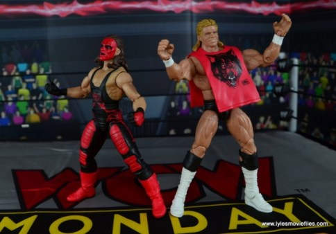 WWE Wolfpac Sting figure review -with Lex Luger