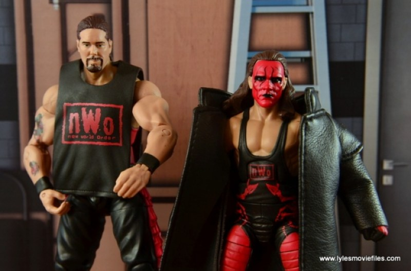 WWE nWo Wolfpac Kevin Nash Elite figure review -with Wolfpac Sting