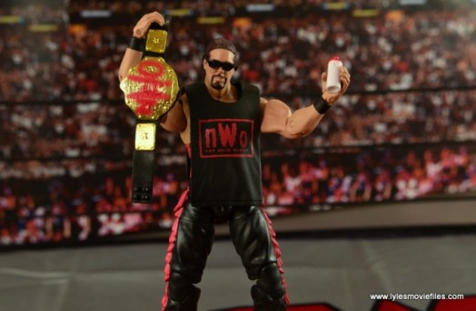 WWE nWo Wolfpac Kevin Nash Elite figure review -with accessories