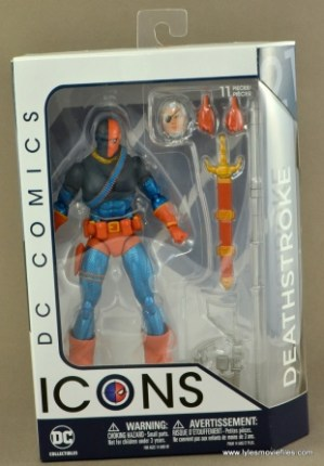 DC Icons Deathstroke the Terminator figure review -front package