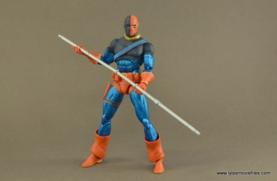 DC Icons Deathstroke the Terminator figure review -holding staff