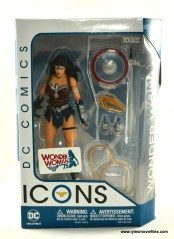 DC Icons Wonder Woman figure review -package front