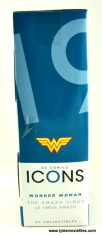 DC Icons Wonder Woman figure review - package side