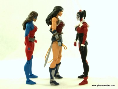 DC Icons Wonder Woman figure review -scale with Atomica and Harley Quinn