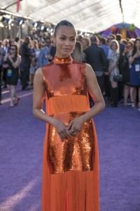 Guardians of the Galaxy Vol. 2 Hollywood premiere - Zoe Saldana
