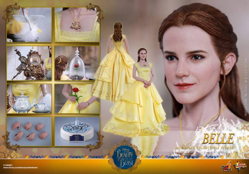Hot Toys Beauty and the Beast Belle figure - collage