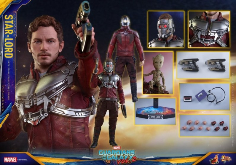 Hot Toys Guardians of the Galaxy Vol. 2 Star-Lord figure -collage