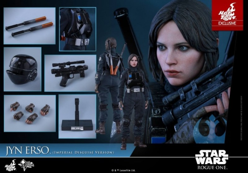 Hot Toys Jyn Erso Imperial Disguise figure collage