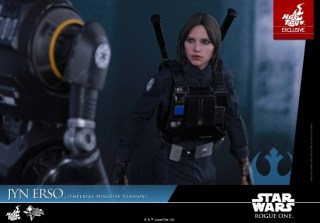 Hot Toys Jyn Erso Imperial Disguise figure with K-2SO