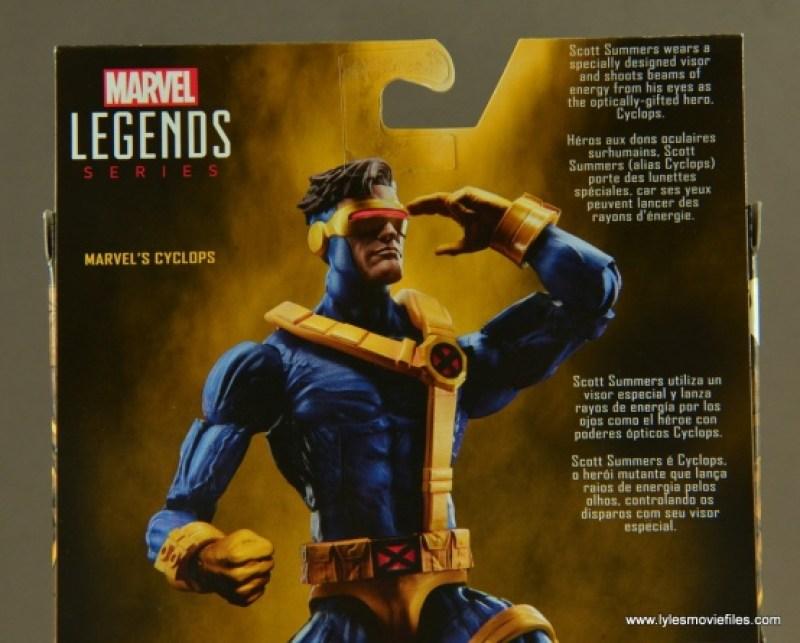 Marvel Legends Cyclops figure review -bio