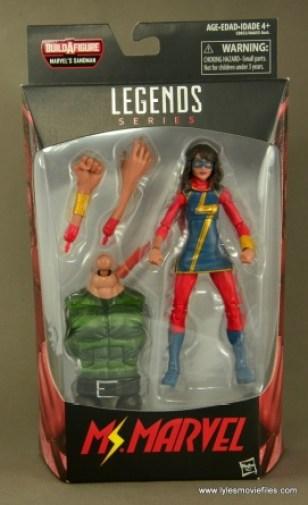 Marvel Legends Ms. Marvel figure review - front package