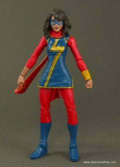 Marvel Legends Ms. Marvel figure review - front side