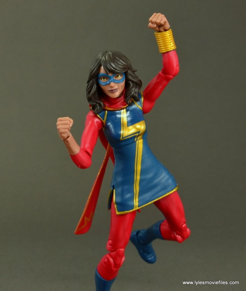 Marvel Legends Ms. Marvel figure review -leaping
