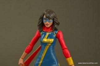 Marvel Legends Ms. Marvel figure review -paint detail