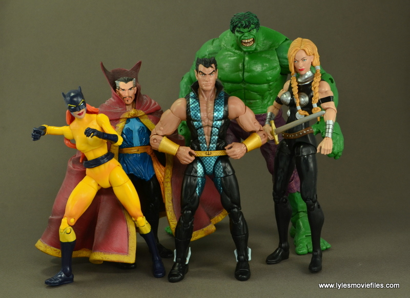 Marvel Legends Namor figure review - The Defenders