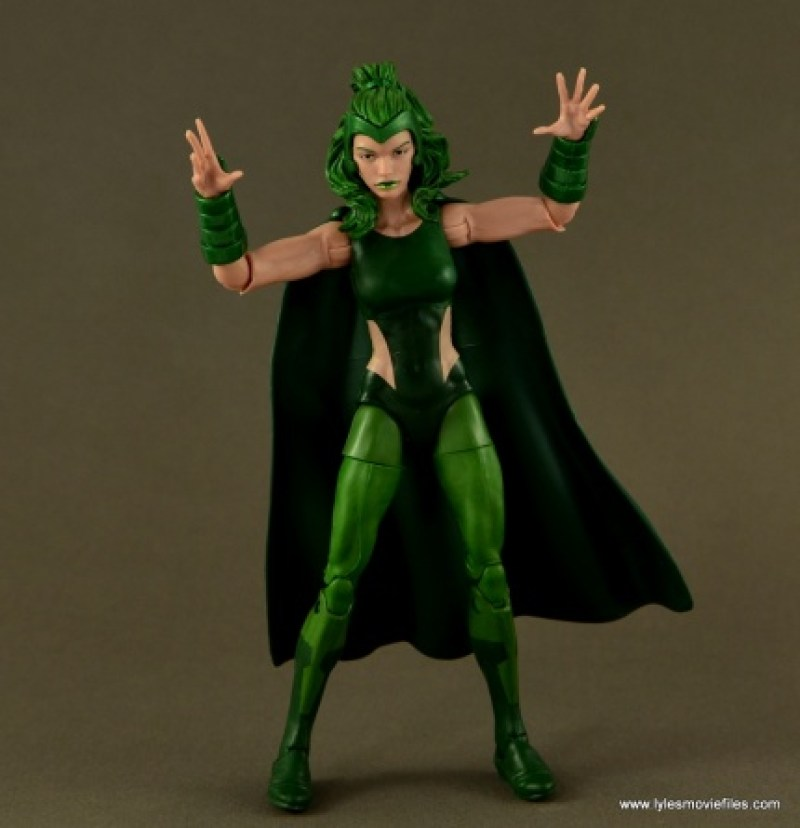 Marvel Legends Polaris figure review - arms up