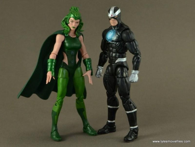 Marvel Legends Polaris figure review - scale with Havok