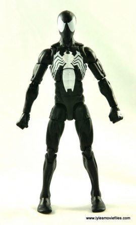 Marvel Legends Symbiote Spider-Man figure review - front view