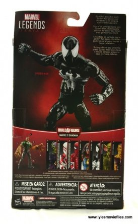 Marvel Legends Symbiote Spider-Man figure review - package rear