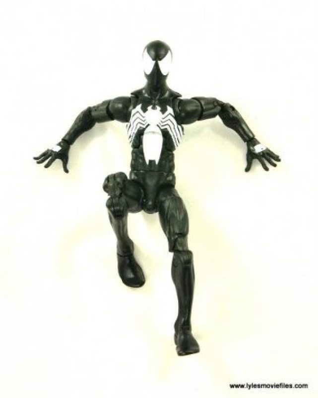 Marvel Legends Symbiote Spider-Man figure review - stuck to wall