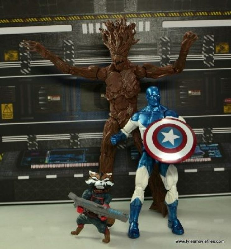 Marvel Legends Vance Astro figure review - Rocket, Groot and Vance