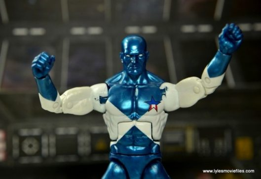 Marvel Legends Vance Astro figure review - paint rub on underarms
