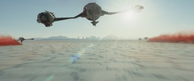 Star Wars Episode VII - The Last Jedi trailer images - flying in to battle Crait