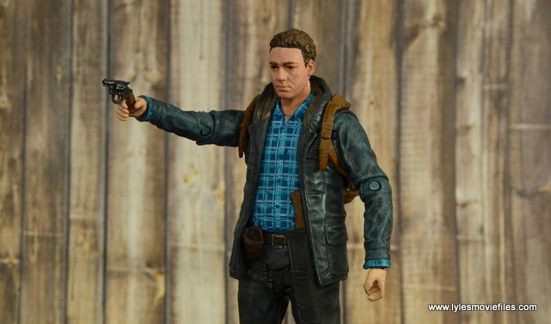 The Walking Dead Aaron figure review -aiming pistol