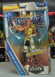 WWE Wrestlemania 12 Elite Shawn Michaels figure review -package front