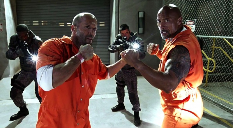 fate of the furious - jason statham and dwayne johnson