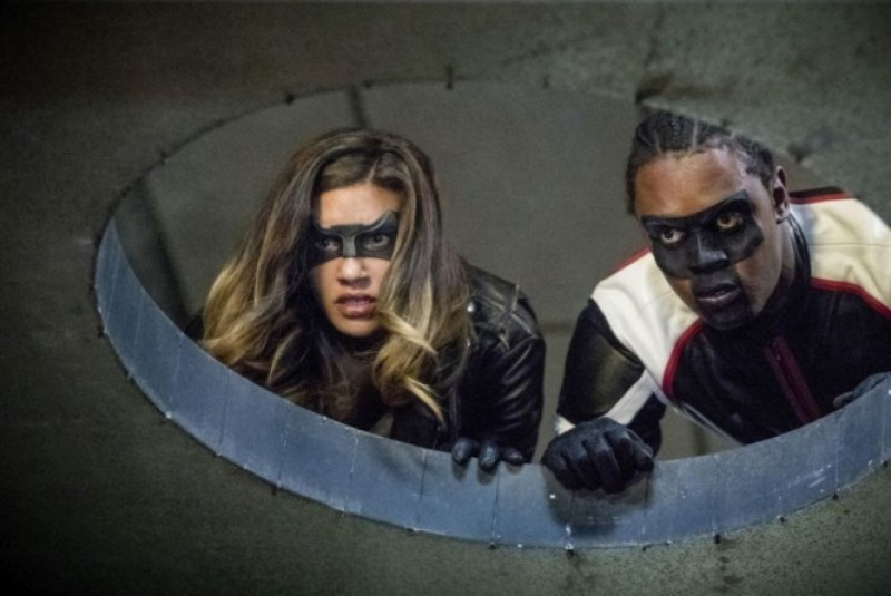 Arrow Honor Thy Father - Black Canary and Mr. Terrific