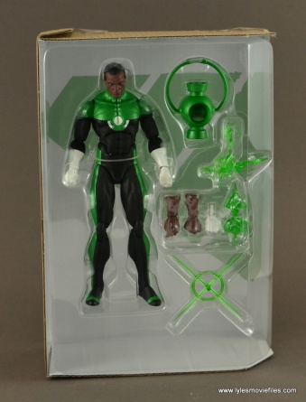 DC Icons John Stewart figure review - accessories in tray