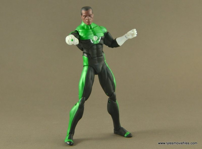 DC Icons John Stewart figure review -wide battle stance