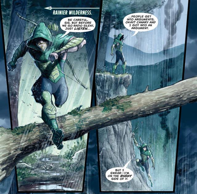 Green Arrow #23 interior art