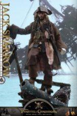 Hot Toys Capt Jack Sparrow figure -on base