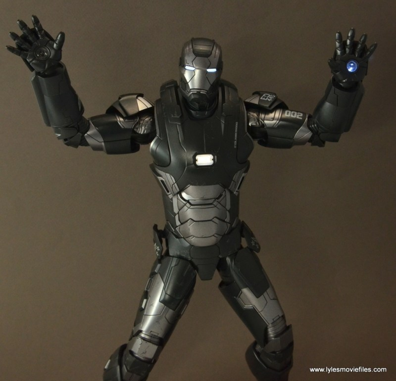 Hot Toys War Machine Age of Ultron figure review -mostly lit up