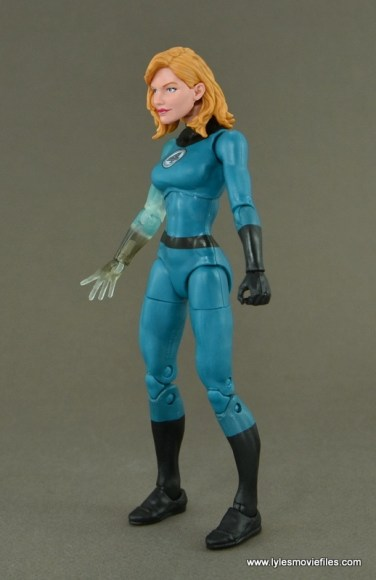 Marvel Legends Invisible Woman figure review -left side