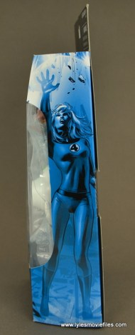 Marvel Legends Invisible Woman figure review - package side