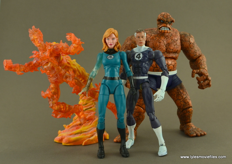 Marvel Legends Invisible Woman figure review -with Human Torch, Reed Richards and Thing