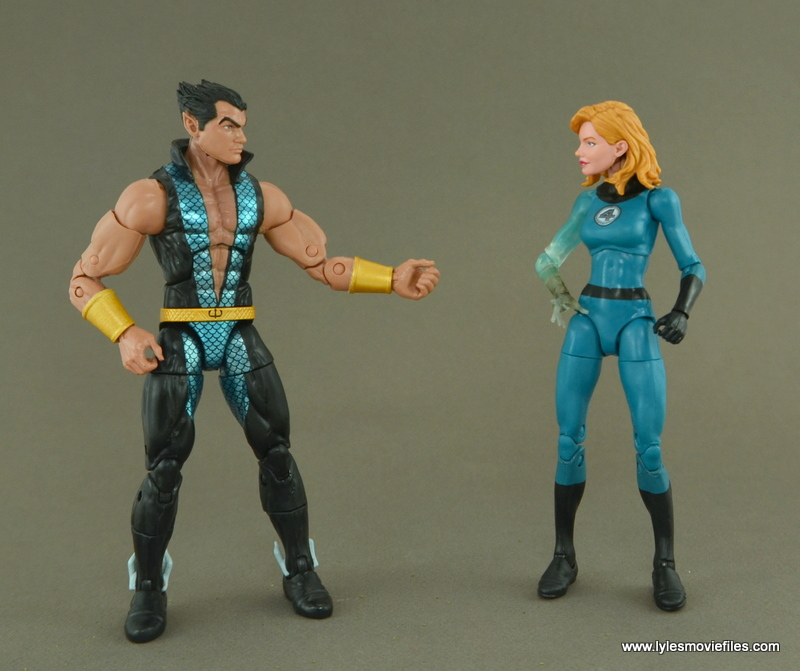 Marvel Legends Invisible Woman figure review -with Namor